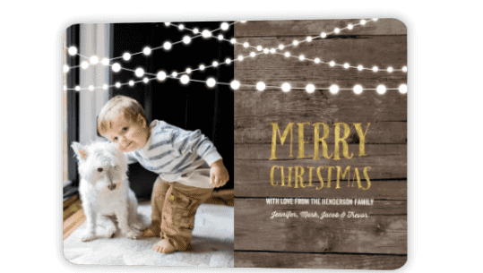 THE COMPANY MIXBOOK EXAMPLE OF A CHRISTMAS CARD WITH CHILD AND DOG