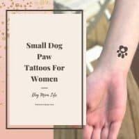 paw print tattoo on woman