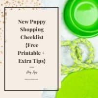 New Puppy Shopping Checklist for new supplies