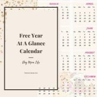 free printable year at a glance calendar with dog holidays 2021