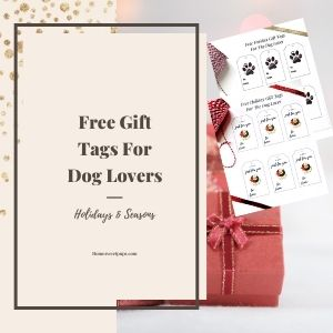 free gift tags for dog lovers
